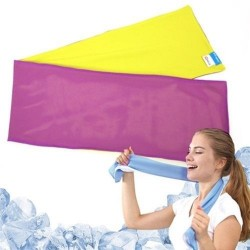 Serviette Ice Mate Cool Jaune / Violet N-Rit