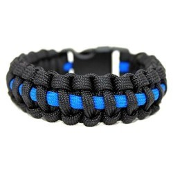 Bracelet Paracorde Blue Line Echo Tactical