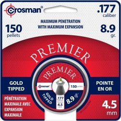 150 Plombs Premier Gold Tip Calibre 4.5mm (.177) 8.9gr - Crosman - 2
