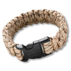 Bracelet Paracorde Beige simple tressage - Large - 1