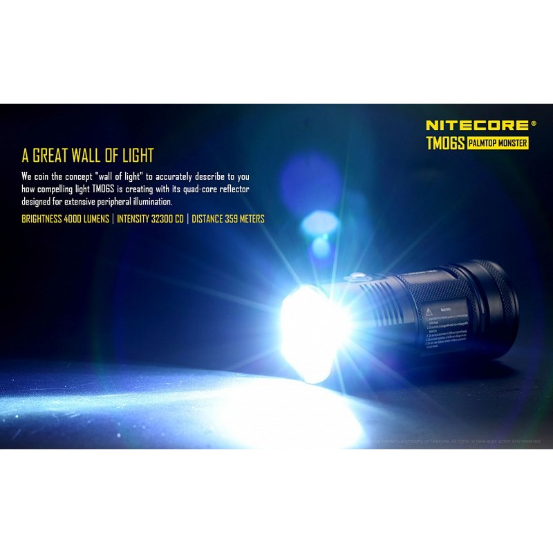 lampe torche led nitecore tm06s conditions extremes. Black Bedroom Furniture Sets. Home Design Ideas