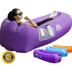 Fauteuil gonflable Air Sofa Hammock-Portable violet Water Proof & Anti-Fuite d'air - 1