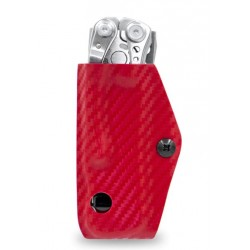Etui pour outil multifonctions Leatherman Skeletool CLIP-&-CARRY rouge carbone - 3