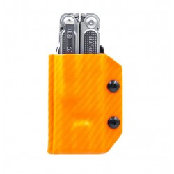 Etui pour outil multifonctions Leatherman Free P4 CLIP-&-CARRY orange carbone - 3